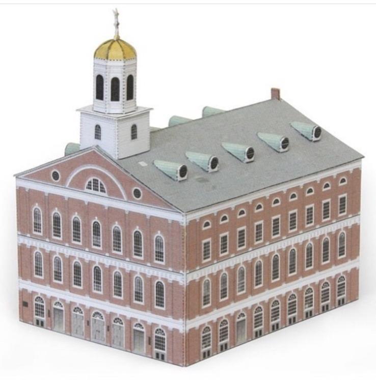 Wurlington Bros. Press Paper models Faneuil Hall