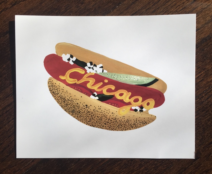 Chicago Illinois food hot dog