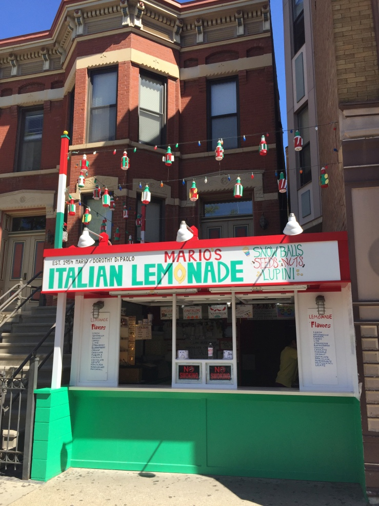 Chicago Illinois Little Italy Mario's Italian Lemonade Taylor Avenue
