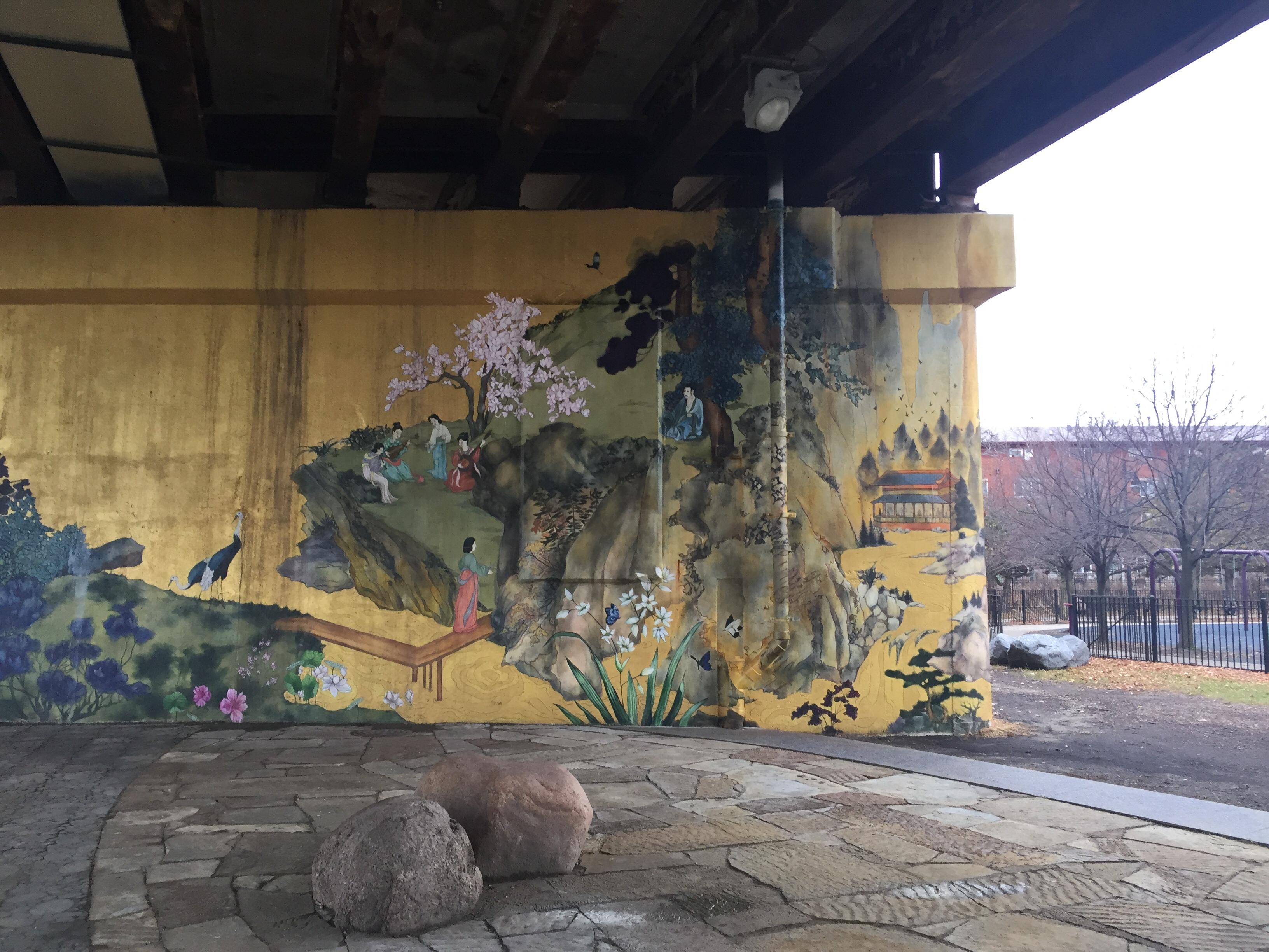 Chicago Illinois Chinatown Ping Tom Memorial Park Murals