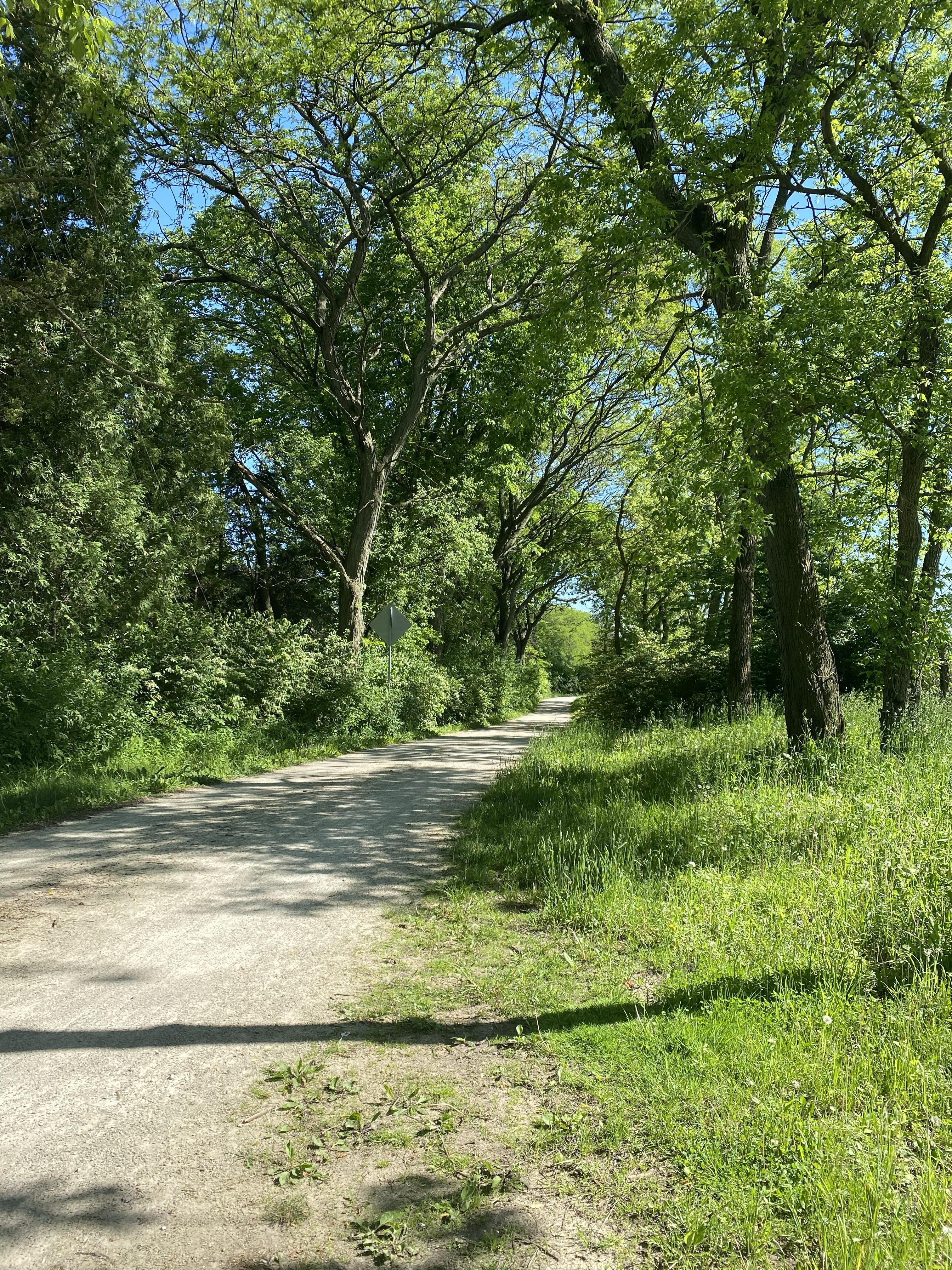 Illinois Prairie Path in Wheaton, Illinois
