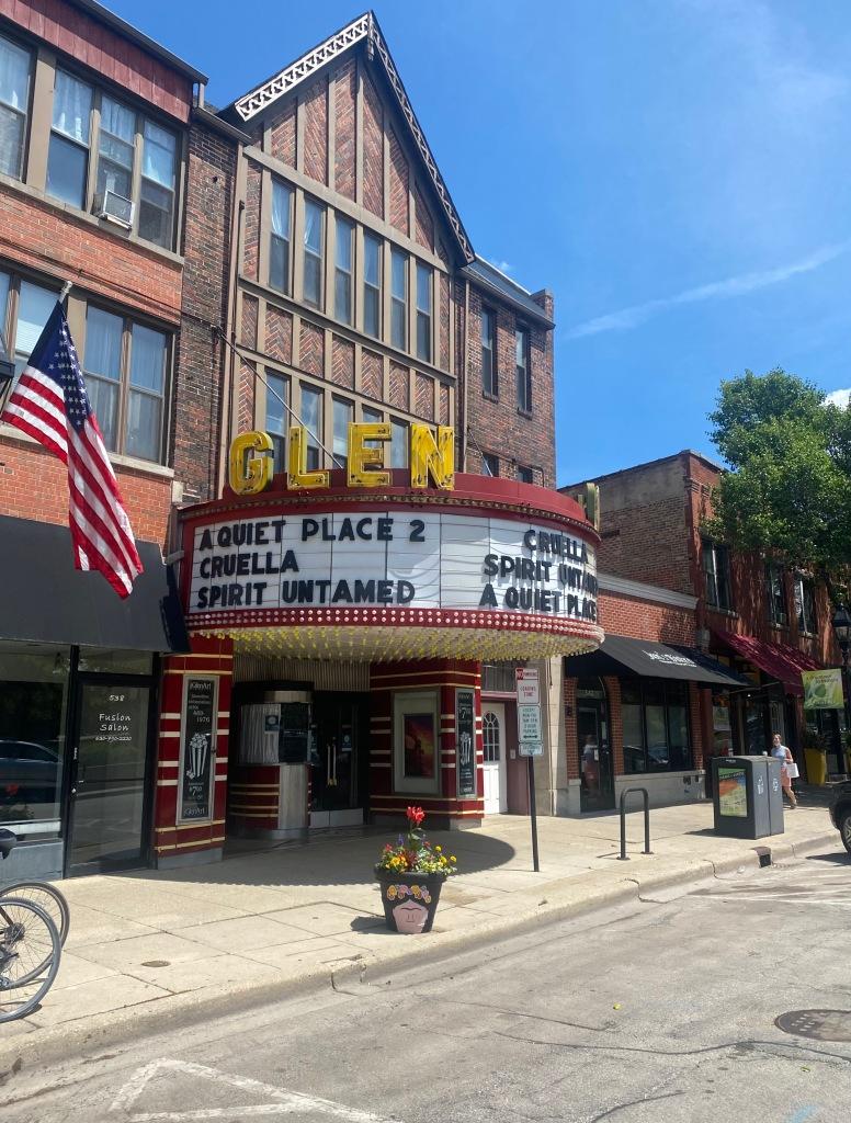 Glen Art Theatre in Glen Ellyn, Illinois. Movie theater from the 1920s