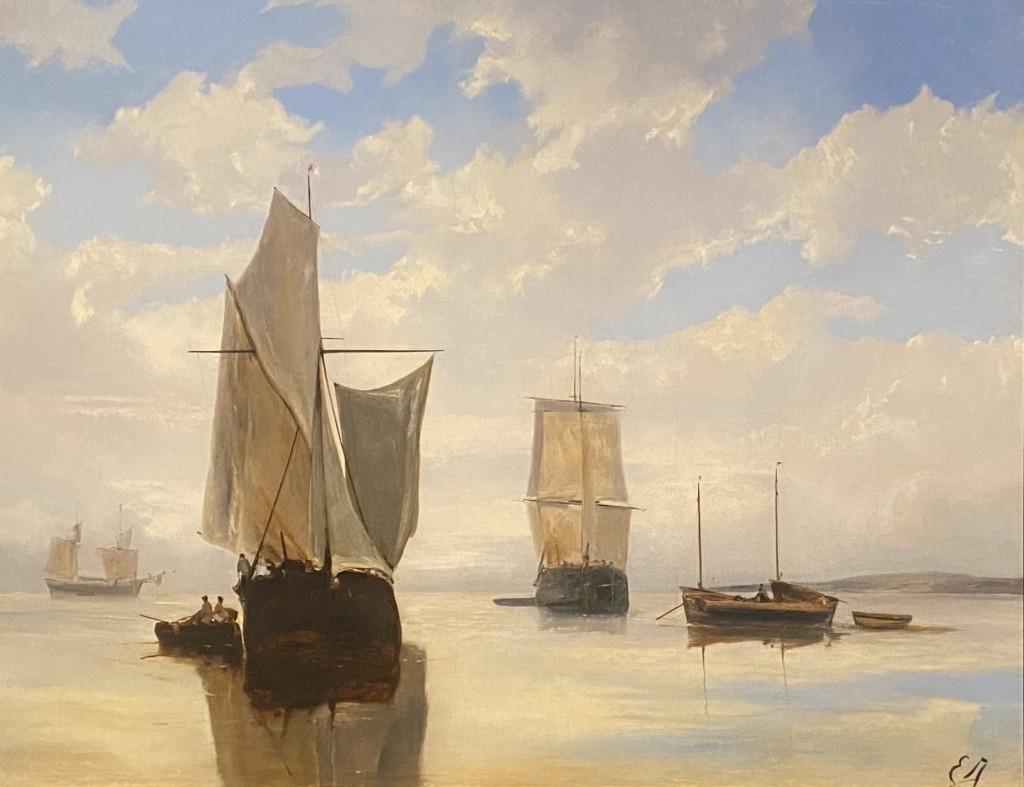 Eugène Isabey untitled oil painting Denver Art Museum