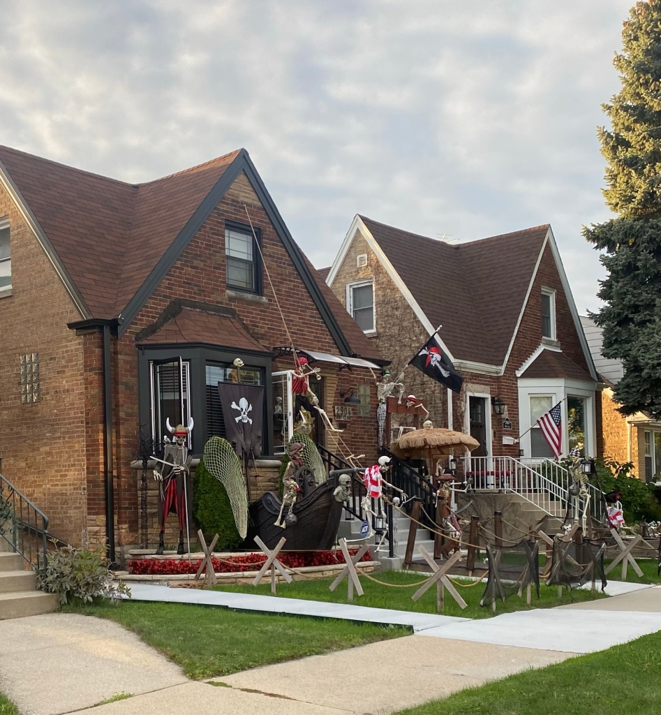 Halloween Chicago Illinois Montclare Chicago neighborhood 2904 N Mont Clare Ave Chicago IL 60634