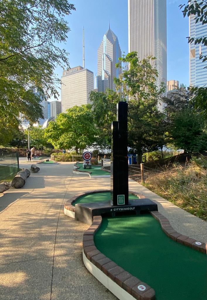 Mini golf Miniature golf Putt putt golf City Mini Golf Downtown Chicago Chicago Illinois Maggie Daley Park 337 E Randolph St Chicago IL 60601